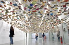 Love this installation at the entrance of the library of the Istanbul Modern !!
