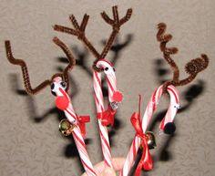 Preschool Crafts for Kids*: Christmas Candy Canes Reindeer Craft