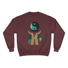 """The """"Two Spirit"""" Champion Sweatshirt Large Logo Two Spirit, Tights And Boots, Champion Sweatshirt, Summer Time, Two By Two, Long Sleeve Tees, Graphic Sweatshirt, Logo, Trending Outfits"""