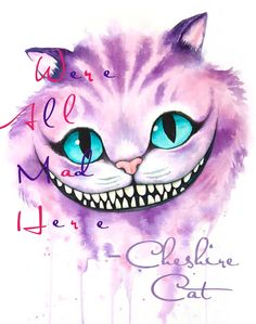 [No Longer Available] Cheshire Cat Aquarell von Denise Soden, 8 X 10 drucken, Sp. - [No Longer Available] Cheshire Cat Aquarell von Denise Soden, 8 X 10 drucken, Spenden … – Tat - Cheshire Cat Drawing, Cheshire Cat Tattoo, Cheshire Cat Wallpaper, Cheshire Cat Smile, Cheshire Cat Makeup, Cheshire Cat Disney, Cheshire Cat Costume, Alice In Wonderland Drawings, Alice And Wonderland Quotes