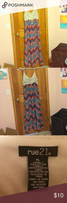 Summer maxi dress XL dress, button straps Rue 21 Dresses Maxi