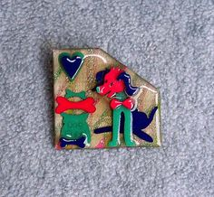 Lucinda Pet Pin Give A Dog A Bone Brooch 2Tall by Kissisjustakiss