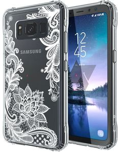 Samsung Galaxy S8 Edge/ S8 Plus Shine Glitter Shimmer Leopard Hybrid Case Blue Cases, Covers & Skins