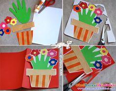 el izi ile çiçekli kart yapalım - OKUL ÖNCESİ ETKİNLİKLERİ - Hayallerinizi Sınırlamayın