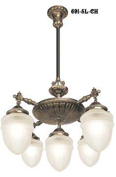 Vintage Hardware & Lighting - Victorian Chandelier - Tall Victorian Chandelier (691-5L-CH)