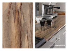 180fx® laminate - 3478 Dolce Macchiato on a kitchen island with IdealEdge