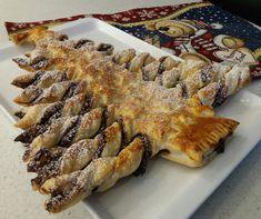 Albero di Natale in pastasfoglia con farcitura di Nocciolata Rigoni!