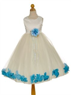 A-line Lovely Petal-Inspired flower girl dress FG052