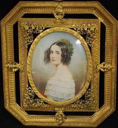 Joseph Karl Stieler -Миниатюрный портрет принцессы Александры Bavaria (1826 -1875).jpg