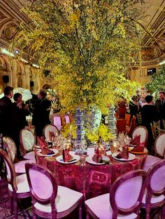 A look at the amazing tables from the New York Botanical Garden's 2019 Orchid Dinner that took place this week at the Plaza. Vanda Orchids, Pink Orchids, Leontine Linens, Orchid Show, Edwardian House, Swedish Style, Cool Tables, Blue Garden, Table Scapes