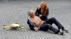 Ambulance Drone - features a built in defibrillator at the campus of the Delft Technical University in Delft, Netherlands. I'd add some aspirin packs and maybe an Epi-Pen. What would you add?