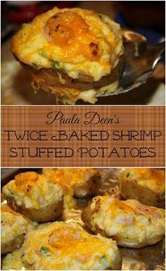 Paula Deen's Twice Baked Shrimp Stuffed Potatoes