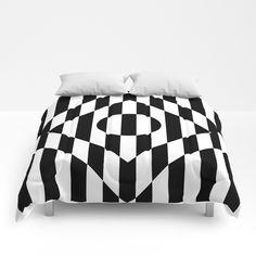 Hot Spot Rhombus Comforters by bitart Scandinavian Bathroom, Soft Duvet Covers, Twin Xl, Duvet Insert, King Size, Monochrome, Comforters, Bed Pillows, Sweet Sweet