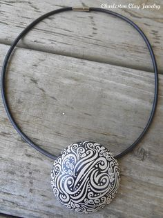 Windblown Handpainted Necklace1 | by Charleston Clay Studios
