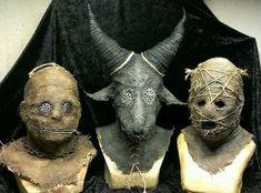Пугала/маски из мешковины не мое, маски, пугала, мешковина, идея, украшение дома, длиннопост