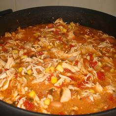 Chicken Tortilla Crockpot Soup - 1 pound shredded, cooked chicken 1 ounce) can whole peeled tomatoes, mashed 1 ounce) can enchilada sauce 1 medium onion, chopped 1 ounce) can chopped green chile peppers 2 cloves garlic, minced 2 cups water 1 ounce) can … Slow Cooker Recipes, Crockpot Recipes, Soup Recipes, Cooking Recipes, Healthy Recipes, Easy Recipes, Healthy Soup, Milk Recipes, Cooking Tips