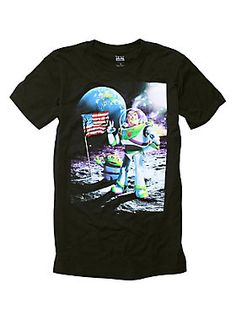 <p>Go to infinity and beyond in this <i> Toy Story</i> Cosmic Explorer T-shirt featuring a Buzz Lightyear & Squeeze Toy Alien design on front.</p>  <ul> 	<li>100% cotton</li> 	<li>Wash cold; dry low</li> 	<li>Imported</li> 	<li>Listed in men's sizes</li> </ul>