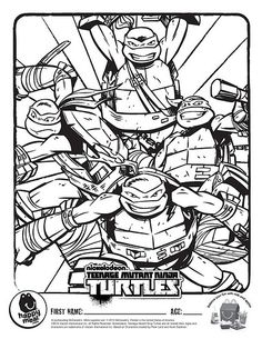 Ninja Turtles Coloring Pages Free Coloring Pages For KidsFree