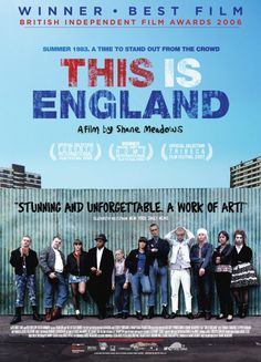 This Is England Shane Meadows' masterpiece. I love anything he does, but this one takes it all. Nostalgic, sweet and brutal all at the same time. The kid in this film is one of my favorite kids to watch on screen. Great Films, Good Movies, Movies To Watch, Awesome Movies, See Movie, Film Movie, This Is England Film, Shane Meadows, Fiestas