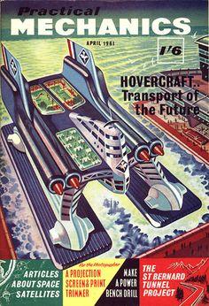 Practical Mechanics April 1961 by Ron Turner #pulp #art #cover