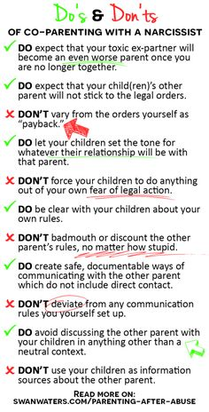 dos and donts of coparenting