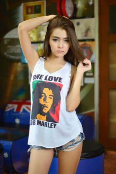 Bob Marley One Love Reggae Ska Music Tank Top Womens Clothing