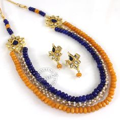 The ZELINA NECKLACE + EARRING by Indiatrend. Shop Now at WWW.INDIATRENDSHOP.COM