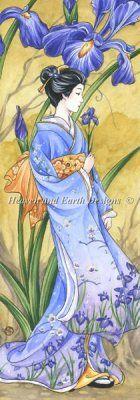 Iris by Meredith Dillman (Heaven and earth Designs)#KIMONO