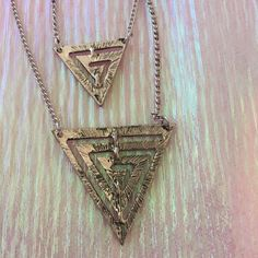 Kenneth Cole necklace Triangle necklace Kenneth Cole Jewelry Necklaces