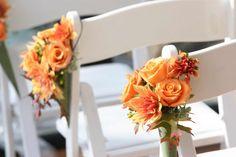 pinterest fall pew decorations | Trauung Blumen Herbst
