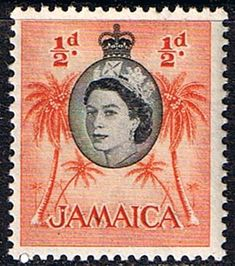 Jamaica 1956 Queen Elizabeth and Coconut Palms Fine Mint SG Scott 159 Other West Indies and British Commonwealth Stamps HERE!