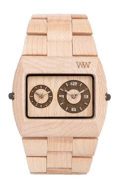 The combination between elegance, modern design, and the use of natural products. Watch made of natural wood, without toxic and allergenic components in its composition. None of these watches is equal to another, because depending on the age of the wood, each piece features variations in color and texture, making each piece unique. A watch that does not leave anyone indifferent.