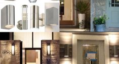 So much thought goes into the colour of a front door but lighting at a front door really adds the finishing touch. There are lots of options including downlighting and 2 way lighting. Front Door Lighting, Downlights, Mansions, Front Doors, House Styles, Home Decor, Entry Doors, Decoration Home, Manor Houses