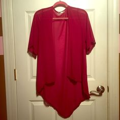FLASH SALE! Kimono style sheer cardigan Love this top! Has no size, but fits like a LG/XL! Rumors Tops Tunics