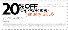 Kirklands Coupons PROMO expires May 2020 Hurry up for a BIG SAVERS Kirklands is a retail chain with more than 300 stores in more than Dollar General Couponing, Coupons For Boyfriend, Coupon Stockpile, Free Printable Coupons, Love Coupons, Grocery Coupons, Extreme Couponing, Coupon Organization, Printables