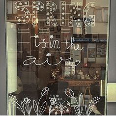 Decorated a store window today @nukafashionlifestyle #window #drawing…
