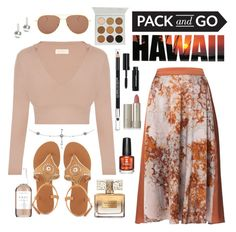 """Aloha!!"" by angelarmoyer ❤ liked on Polyvore featuring Lauren Ralph Lauren, WtR London, Charlotte Russe, Illesteva, Herbivore, Givenchy, Ilia, The Body Shop and Bobbi Brown Cosmetics"