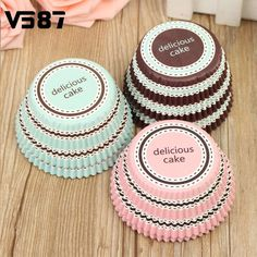 NEW 50Pcs/Lot Mini stripe Cake Cup Liners Muffin Kitchen Greaseproof Paper Cupcake Cases Baking Decorating Mold Tools