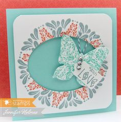 Simple Flourishes Gorgeous Jennifer!!!! Love the butterfly and I feel spring in the air just looking at your beautiful card!  :) Jill