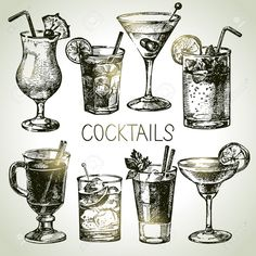 Find Hand drawn sketch set of alcoholic cocktails. Vector illustration stock vectors and royalty free photos in HD. Explore millions of stock photos, images, illustrations, and vectors in the Shutterstock creative collection. Cocktails Drawing, Margarita, Cocktail Illustration, Cocktails Vector, Alcoholic Cocktails, Fruit Decorations, Free Hand Drawing, Background Vintage, Vector Background