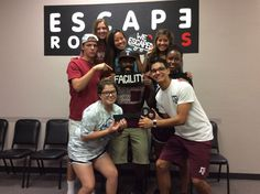 This group escaped Dr. Andrew's lab in 54 minutes!