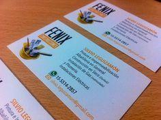 Últimos trabajos: Diseño e impresión de tarjetas personales para Fénix Construcciones