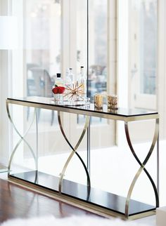 Miramont Console | Bernhardt - in living room by kitchen