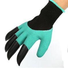 2Pcs Gardening Digging Gloves Planting Rubber Polyester Safety Work Gloves Builders Grip Gloves