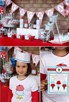 Red White & Blue Ice Cream Party