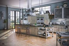 Social Kitchen by Volkan Kacar | Architecture | 3D | CGSociety