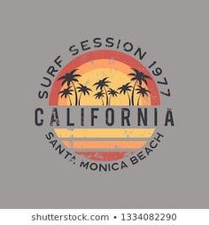 Vintage Logo Design, Retro Design, Vintage Logos, Vintage Beach Signs, T Shirt Logo Design, California Logo, Summer Logo, Surf Logo, Surf Design