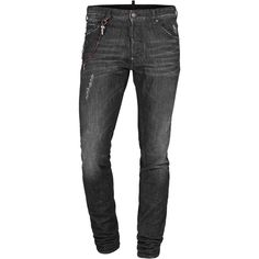 DSQUARED2 5 Pckt Cool Guy Jean Long Crotch Tight Bottom Chain Slim fit... ($445) ❤ liked on Polyvore featuring mens, men's clothing, men's jeans, pants, men, jeans, guys and landry bottoms