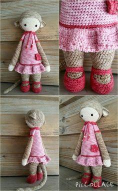 Made by Els van S (Lalylala) Kawaii Crochet, Crochet Baby, Knit Crochet, Amigurumi Doll, Amigurumi Patterns, Crochet Patterns, Knitted Dolls, Crochet Dolls, Yarn Stash