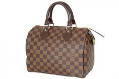 Louis Vuitton Damier Speedy 25 Boston Bag